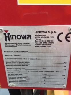 HINOWA GOLDLIFT 14.70 COMPACT TRACKED SPIDER LIFT