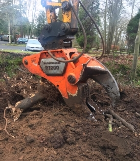 Stump Shear Hire – Westtech R1200